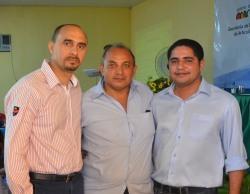 Superintendente da CODEVASF, João Martins, o secretário Articulação Institucional, Rodrigo Comerciário, e o superintendente regional do INCRA, José Inácio Rodrigues