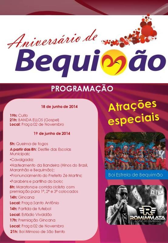 aniversário de Bequimão