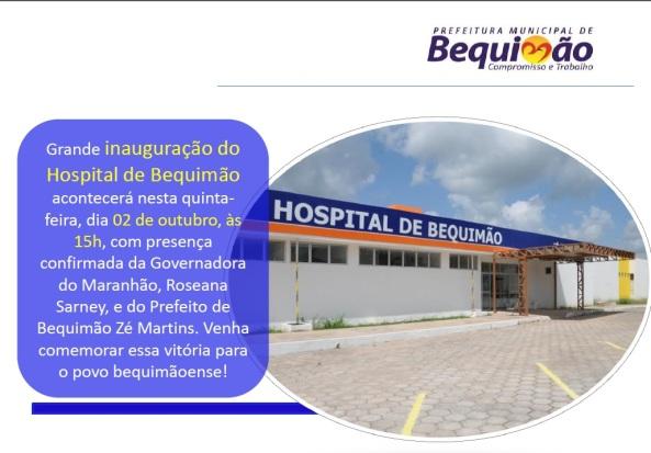 convite inauguração do hospital