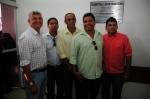 Prefeito e os vereadores Robson, Jorge, Valmir e Amarildo