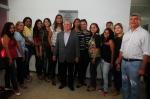 Secretário José Márcio Leite e prefeito Zé Martins com a equipe de saúde