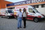 Prefeito Zé Martins e a diretora do hospital Jane Matsoos
