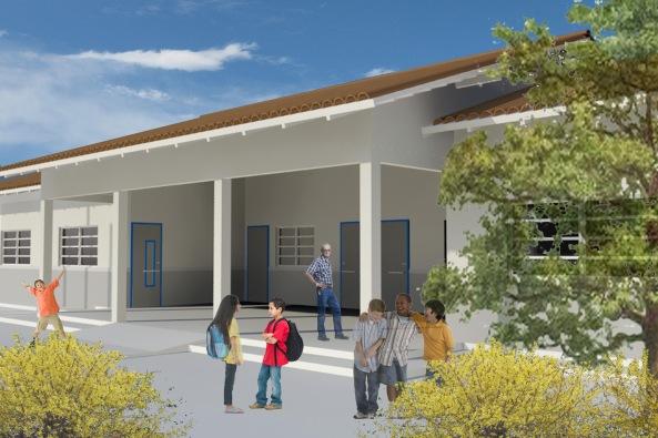 Padrão das escolas que serão construídas em Balandro, Vila Nova, Boa Vista, Frechal, Santa Tereza e Rio Grande
