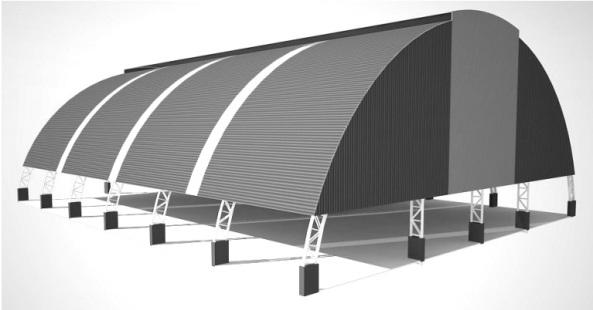 Ilustração da quadra coberta que será construída na Estiva