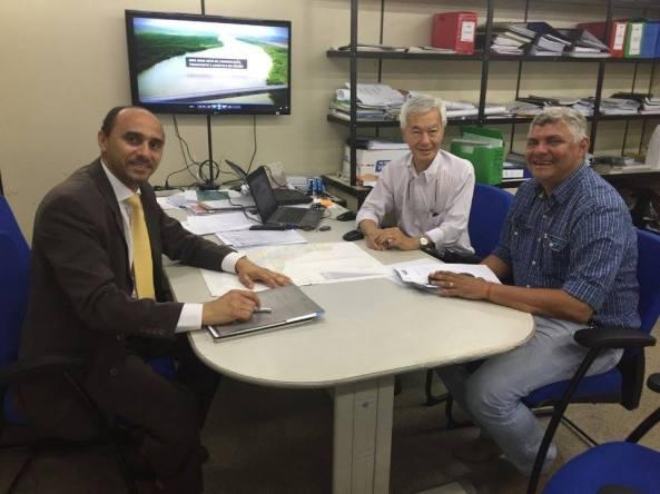 Prefeito Zé Martins e o Superintendente do Sebrae e Jorge Kusaba