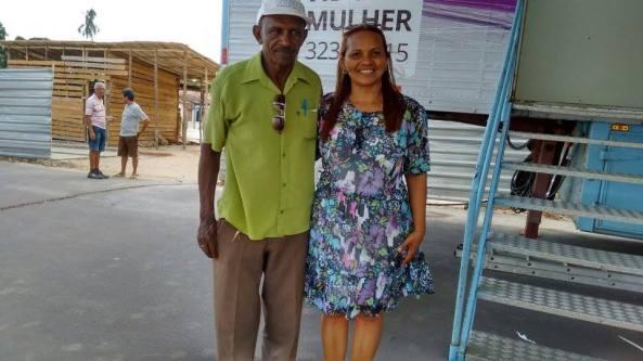 Secretária de Cultura e Promoção da Igualdade Racial, Dinha Pinheiro ao lado de seu Adjunto.