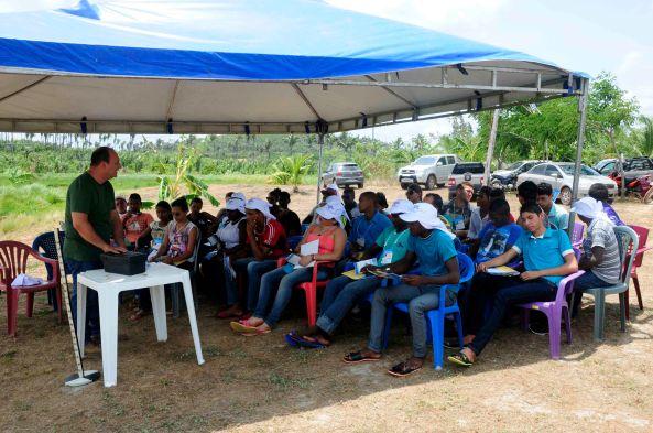 Momento das oficinas e palestras feitas pelos gestores do Sebrae