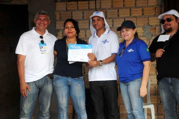 Prefeito Zé Martins, Wanda Pereira, Raimundo Jr e Rosa Amélia