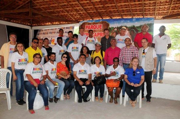 Momento da chegada dos integrantes do Fórum da baixada em Bequimão e recebidos pelo Prefeito Zé Martins