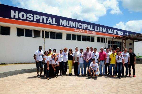 Visita ao Hospital de Bequimão para conhecer toda a estrutura da Unidade de Saúde