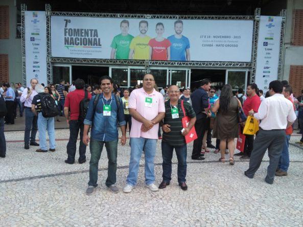 Rodrigo Martins, Sidney Bouéres e Ademar Costa representaram Bequimão no VII Fomenta em Cuiabá (MT)