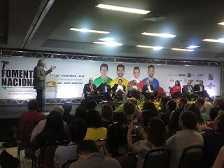 Guilherme Afif, presidente do Sebrae durante abertura do VII Fomenta em Cuiabá -MT.