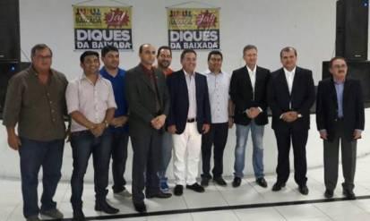 Autoridades homenageadas em evento de comemoração ao primeiro aniversário do Fórum da Baixada Maranhense