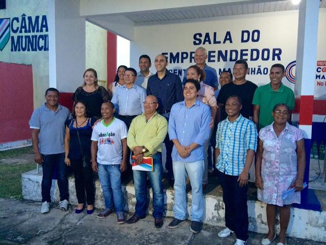 Representantes do Sebrae e da Prefeitura de Central do Maranhão