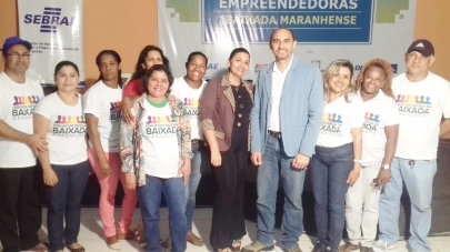 O diretor superintendente do Sebrae no Maranhão, João Martins, com representantes do Fórum em Defesa da Baixada Maranhense.