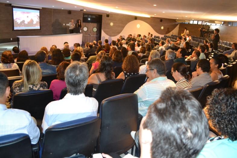 Evento de lançamento contou com plateia de lideranças empresariais, representantes de órgãos governamentais e de fomento à pesquisa, e empresários.