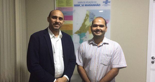 Superintendente do Sebrae, João Martins, e o prefeito eleito de Alcântara, Anderson