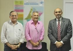 Acompanhado pelo conselheiro do TCE, Jorge Pavão, o prefeito Zezildo Almeida conversou com o diretor superintendente do Sebrae-MA, João Martin, sobre projetos voltados ao empreendedorismo em Santa Helena.