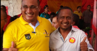 Prefeito Epitácio ao lado do vice Ismael Monteiro